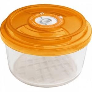 Стеклянный контейнер круглый диам.18 см, выс.9,5 см - 1,4 л