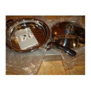 Сковорода (2,8л с крышкой, зеркальная полировка)